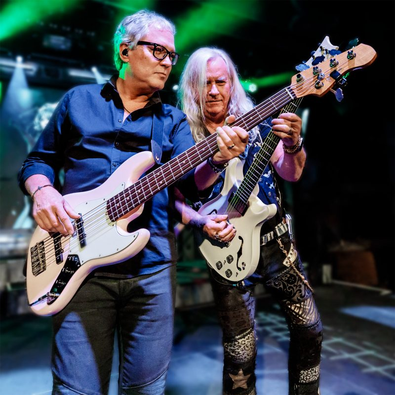 Rock and Roll Hall of Fame inductees Hugh McDonald (Bon Jovi) and Howard Leese (Heart) perform with Raiding the Rock Vault at Vinyl Las Vegas