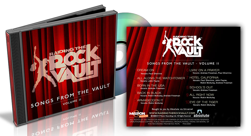 """Raiding the Rock Vault Releases New Studio Album """"Songs from the Vault, Volume 2"""" on iTunes, Spotify and CD"""