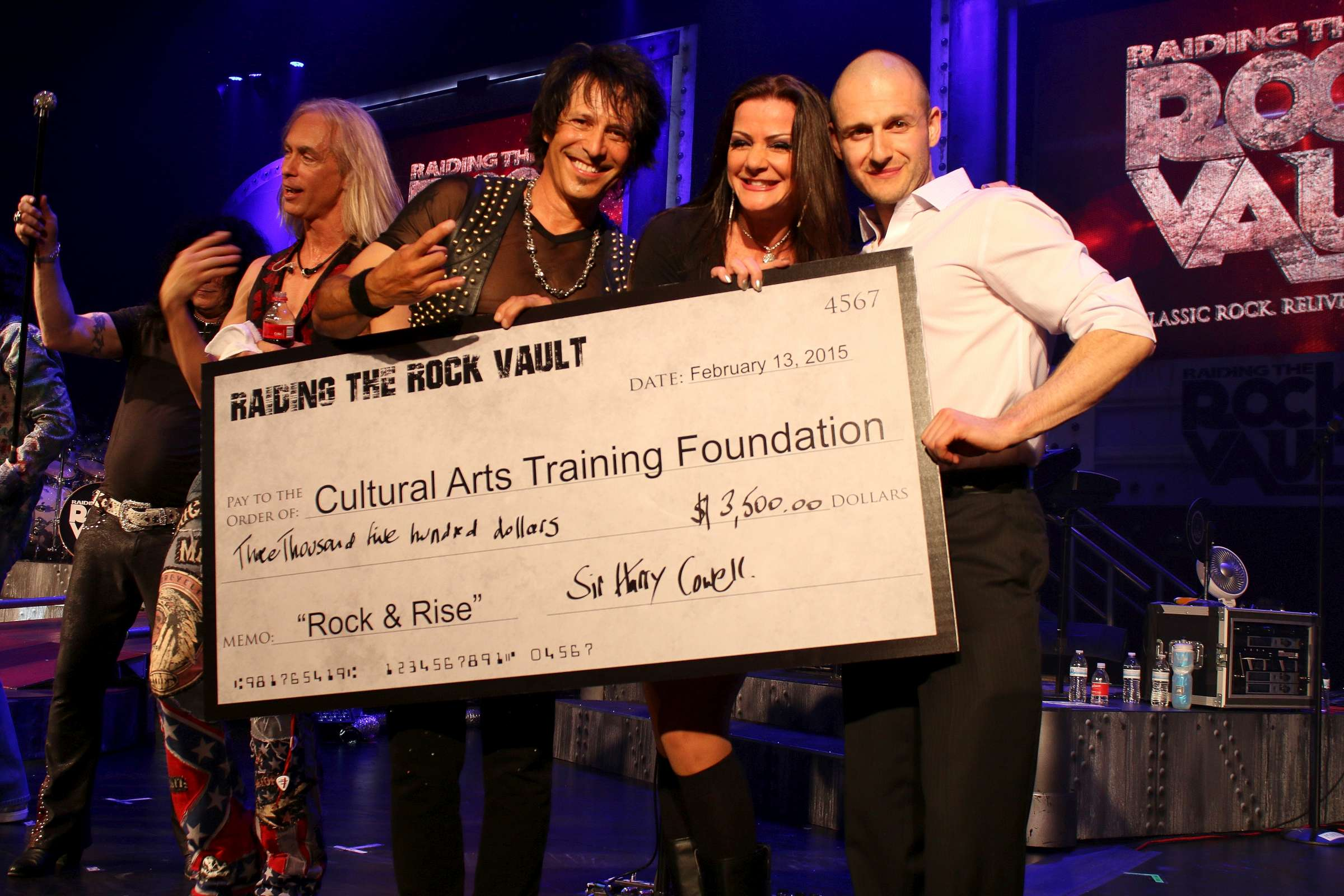 """Raiding the Rock Vault"" Raises $3,500 for The Cultural Arts Training Foundation at Friday, Feb. 13 Show"